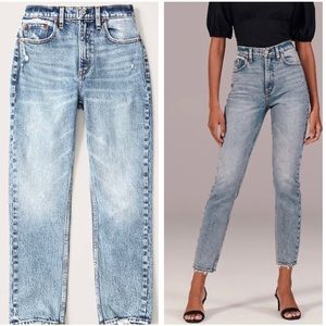 Abercrombie & Fitch Acid Wash Mom Jeans